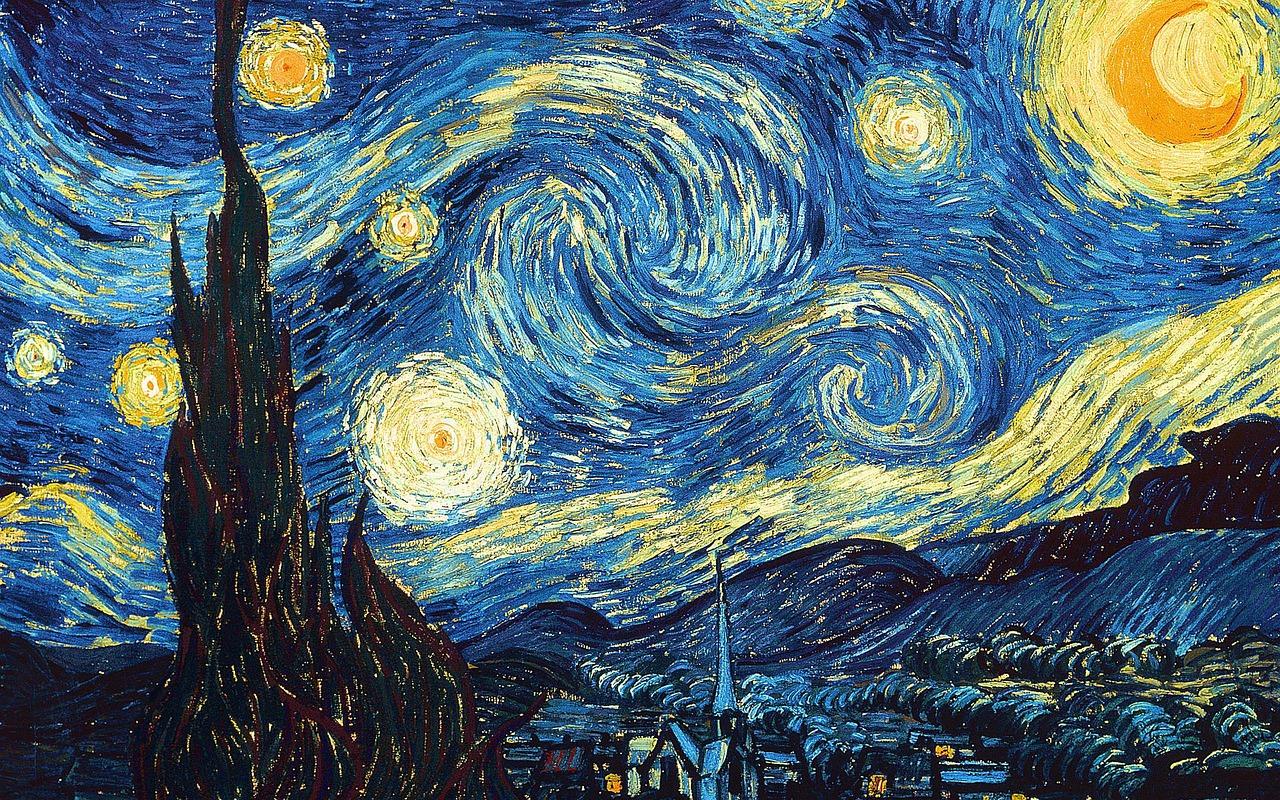 starry sky, van gogh, oil painting-1948523.jpg